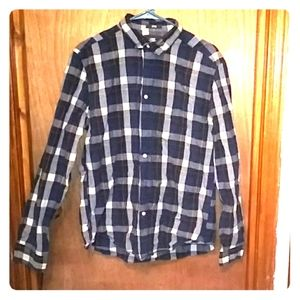 Plaid Fitted Button down
